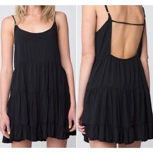 Brandy Melville Jade Black Tiered Mini Dress S